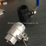 """Operação manual 1/2 """"-4"""" Bloqueando válvula de esfera de 2 peças com extremidade de fio"""
