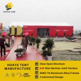 15x25m caso tienda de campaña con forro y el anuncio de la fachada (HY095b)