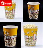 El papel impreso personalizado el cubo de palomitas de maíz