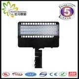 Luz de rua aprovada do diodo emissor de luz do diodo emissor de luz Shoebox 150W do UL Dlc ETL do FCC de RoHS do Ce com 5 anos de garantia