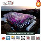 20X30m una tenda trasparente delle 500 genti con illuminazione usata per il locale notturno