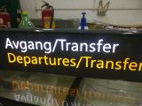 屋内屋外空港地下鉄の地下鉄によって中断されるWayfindingのディレクトリのパイロンの表記
