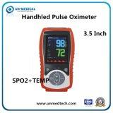 Neues buntes Handimpuls-Oximeter mit Temperatur