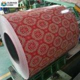 Bobina de aço galvanizada Prepainted de PPGI com teste padrão de flor