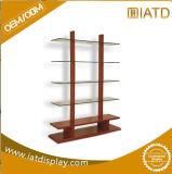 Хлопните вверх шкаф комиков индикации плиток одежды деревянного свободно стоящего розничного хранения стеклянный