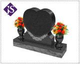 Pietra tombale del granito/monumento/Headstone/pietra neri assoluti di Graving con il vaso e la statua