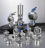 Санитарная нержавеющая сталь сварила продетую нитку клапан-бабочку (DN15-200 & 1/2 '' - 8 '')