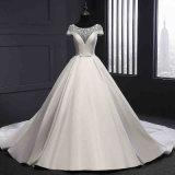 Платье венчания выпускного вечера сатинировки шикарное Bridal