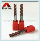 HRC55 Esquina Raduis revestimiento de cobre de corte de carburo