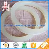 Gaxeta de borracha da flange feita sob encomenda de alta temperatura da tubulação do silicone do produto comestível/gaxeta borracha da bomba