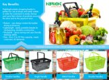 Prix bon marché Supermarché Panier de magasinage en plastique