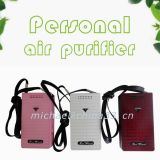 China Necklace Air Ionizer Mini Purificador de ar pessoal