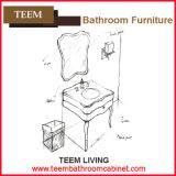 Sì comprendere il bacino ed il tipo combinato mobilia di vanità della stanza da bagno di legno solido