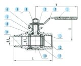 Kugelventil der Ausbohrungs-2-PC, 2000wog