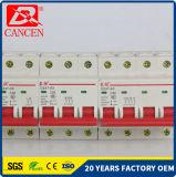 MCB Minivolle Materialien der sicherungs-1-63A für silbernen Kontakt, Fassbinder-Ring und feuerfest machendes Plastikshell