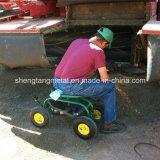 Rolling Garden Cart com assento giratório de 360 graus e bandeja