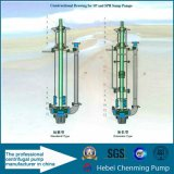Bomba de pasta de sucção centrífuga submersível vertical centrífuga não obstruída