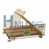 Armazenamento do armazém que empilha a gaiola dobrável do fio de metal
