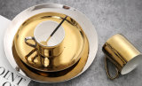 نوع ذهب يصفّى أداة مائدة ذهبيّة خزفيّة لوحة تخزين صينيّة إبريق خزفيّة