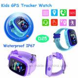 La seguridad de niños/Chicos Tracker GPS reloj con pantalla táctil de colores D25