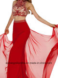 Sexy Two Evening Gowns in Red Beads Dress Party