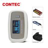 Contec Cms50d1 Handbediende die Oximeter met Wit in het Ziekenhuis, de Gezondheidszorg van het Huis, de Staaf van de Zuurstof, Communautair Medisch Centrum wordt gebruikt