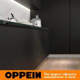 De in het groot Moderne Modieuze Zwarte Houten Keukenkast van de Lak van de Steen (OP16-L14)