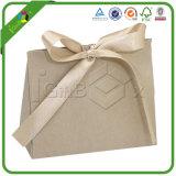 Impreso de sarga regalo colorido de la bolsa de papel Kraft con mango de nylon