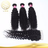 閉鎖が付いている100%年のバージンのブラジルの巻き毛の波の人間の毛髪を販売するBesting