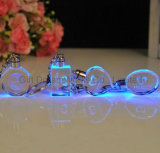 Кристально чистый звук цепочке для ключей с цветами светодиодный индикатор с кольцом для поощрения подарки