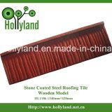 Folha revestida de pedra da telhadura do metal (tipo de madeira)