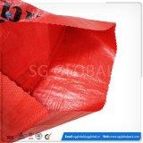 Sacchetto tessuto pp su ordinazione di marchio della stampa della fabbrica della Cina