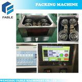 Machine à emballer façonnage/remplissage/soudure de thé de sac de triangle avec l'étiquette