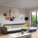 Tecido de canto Sofá estilo moderno para a sala escura