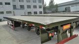 De 3 d'essieu remorques de camion de plate-forme de conteneur remorque à plat semi à vendre