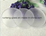 Травленое стекло высокого качества круглое кисловочное