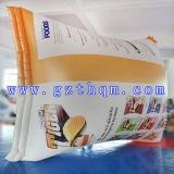 Inflation-Modell Nahrungsmitteldes im freienbekanntmachens/des aufblasbaren Flaschen-Modells für das Nahrungsmittelfirma-Bekanntmachen