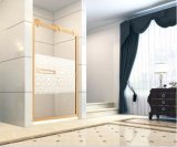 Os acessórios de banho 1500 mm de largura da estrutura de aço inoxidável porta do chuveiro com óculos de 8 mm