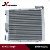 Radiador de aluminio de aleta de placa soldada a medida para Kobelco