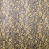 Cor retro couro malogrado impresso do saco do PVC da grão da casca de árvore