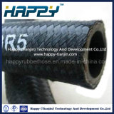 Un boyau en caoutchouc hydraulique R5 de couverture de textile de tresse de fil