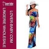 Delgado impreso atractivo maxi del vestido L51256