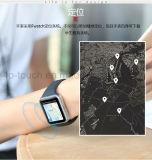 Telefone esperto do relógio com tela de toque e ranhura para cartão Q7 de SIM