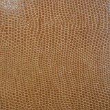 Двойным кожа PU ящерицы цвета большим выбитая зерном искусственная