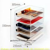 A4 5 couches de document de présentoir matériel acrylique
