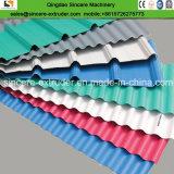Linha trapezoidalmente ondulada da extrusão das telhas de telhadura do PVC \ PE \ PC