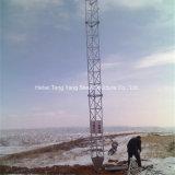 Tour de transmission télescopique en aluminium Pole Communication haubané de Telecom Tower