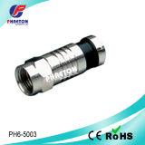 Connecteur de câble de la compression rf de Rg59 RG6 (pH6-5004)