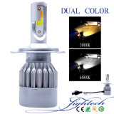 Farol fresco do carro do branco 6K do ventilador de C6f 36W 2400lm Turbo