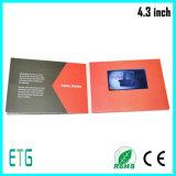 Lcd-Bildschirm kundenspezifische videogruß-Karte/videobroschüre (4.3inch, 5inch, 7inch)